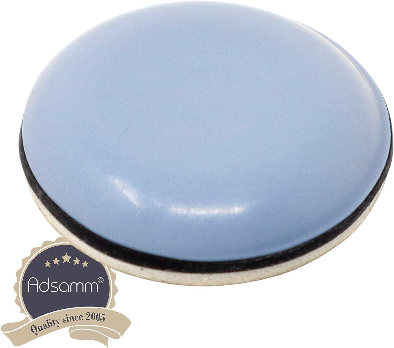 ronde /Ø 20 mm gris patins glisseurs auto-adh/ésif qualit/é premium de Adsamm/® Patins en PTFE