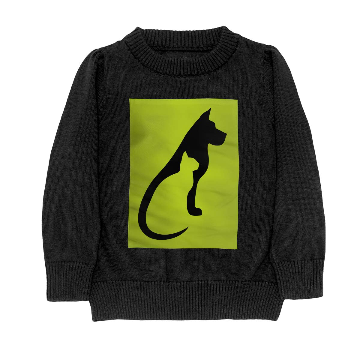 Cat and Dog Cool Teenager Boys Girls Unisex Sweater Keep Warm