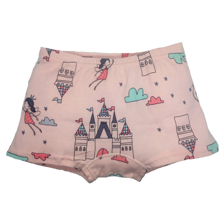 Cczmfeas Girls Boyshort Hipster Panties Cotton Kids Underwear Set (A-6 Pack, 6-8 Years) by Cczmfeas (Image #7)
