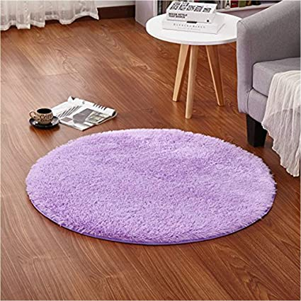 LOCHAS Round Area Rugs Super Soft Smooth Rugs Living Room Carpet Bedroom Rug  For Children Play