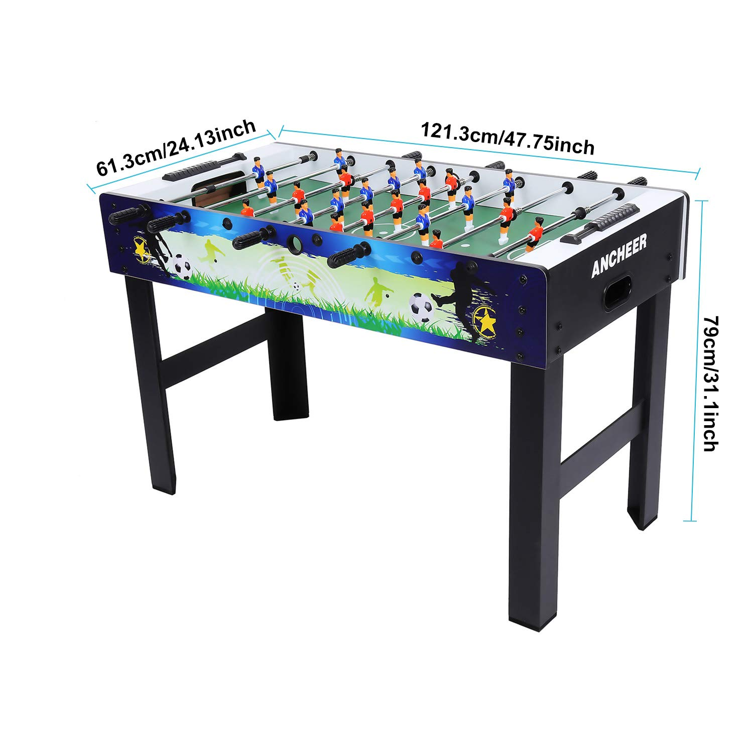 ANCHEER 48'' Foosball Table Soccer Table Arcade Game Room Football Table Sports Game for Kids& Adults- Indoor&Outdoor by ANCHEER (Image #2)