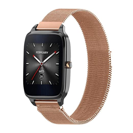 VESNIBA Milanese Magnetic Loop Stainless Steel Band Strap Bracelet for ASUS ZenWatch 2