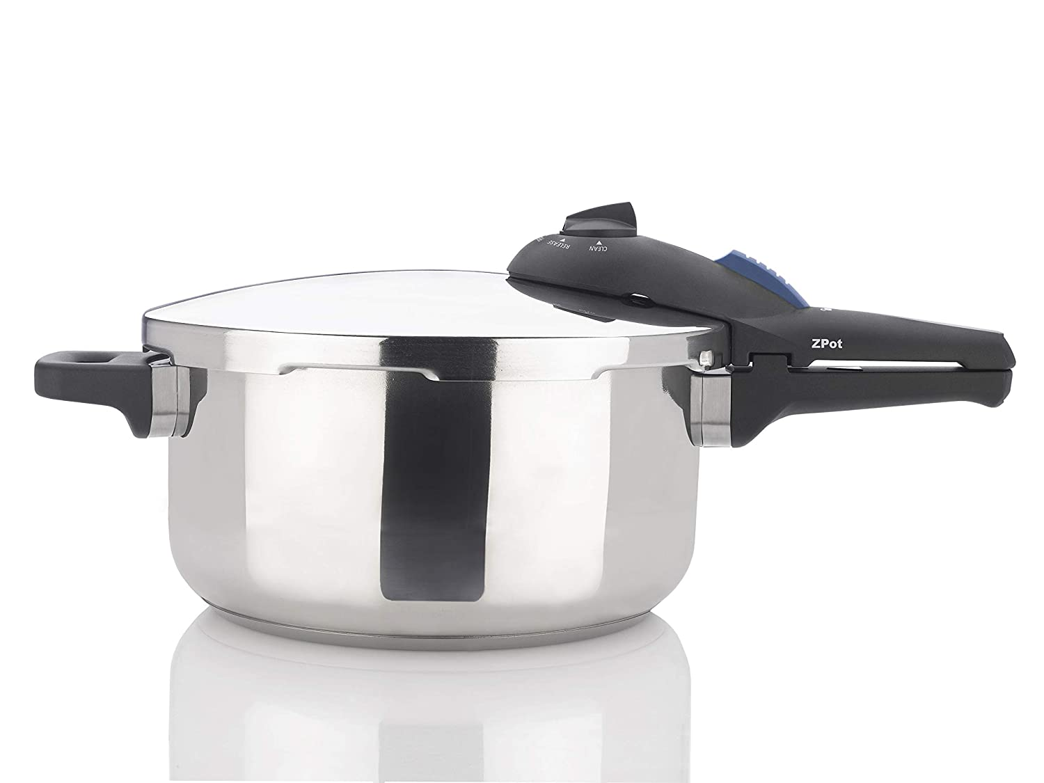 Zavor ZPot 4.2 Quart 15-PSI Pressure Cooker and Canner - Polished Stainless Steel (ZCWSP01)