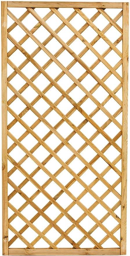 Paneles enrejados rectangulares - 4 unidades - Medidas 90 x 180 cm - Paneles enrejados de madera ideales para decoración de exteriores, para el balcón, para el jardín: Amazon.es: Jardín