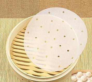 Vinallo 22 9 Cm Premium Bambus Dampfgarer Papier Liners Perforiert