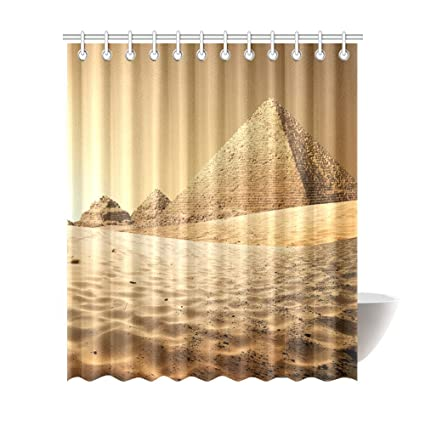 Amazon Com Egyptian Sphinx And Pyramid Shower Curtains 72 X 84