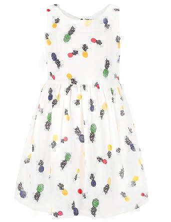 5b426dec9 Amazon.com  Ephex Little Girls Summer Cheerful Pops Lemon Print ...