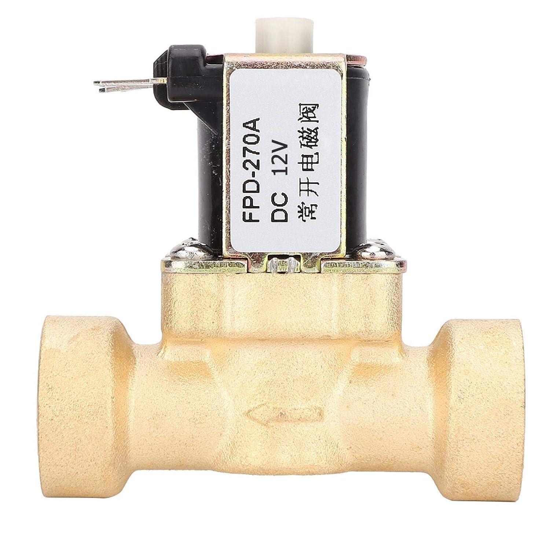 Válvula electromagnética DC 12 / 24V Válvula solenoide bobina de cobre puro Controles de riego Controles de aire Controles de líquido(DC12V)