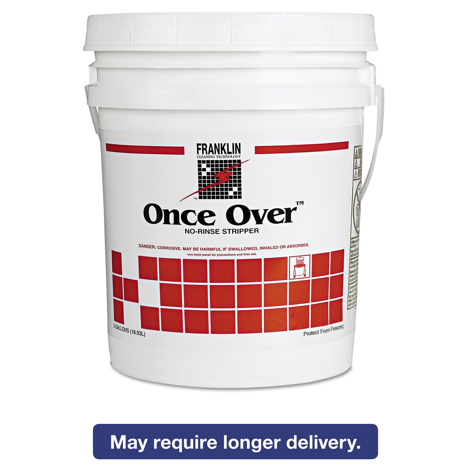 Franklin Cleaning F200026 Once Over Floor Stripper Mint Scent Liquid 5 gal. Pail