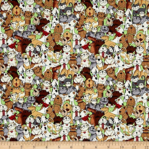 quilt fabric dogs - 1