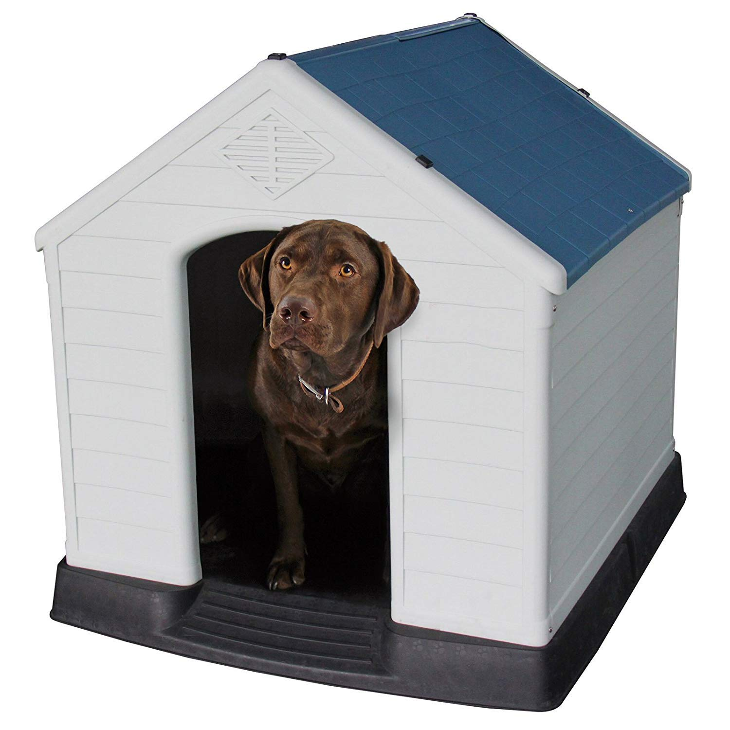 bluee Small bluee Small Large Dog Kennel,Indoor Outdoor Dog,Kennel,Windproof Dog Kennel,Keep Your Pets Safe Dog House,Shed Home for Dogs,Big Dog Small Dog,Cat House,Feeding Kennel