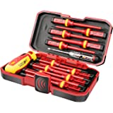 1000V Insulated Electrician Screwdriver Set, All-in-One Premium Professional 13-Pieces CR-V Magnetic Phillips Slotted…