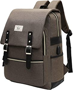 Ronyes Backpack College School Bag Bookbag Fashion Rucksack with USB Charging Port Casual Daypacks Fits up to 15.6'' Laptop