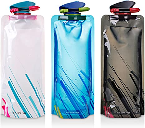 700ml Plastic Sport Water Bottle Folding Outdoor Collapsible Water Bag Cup