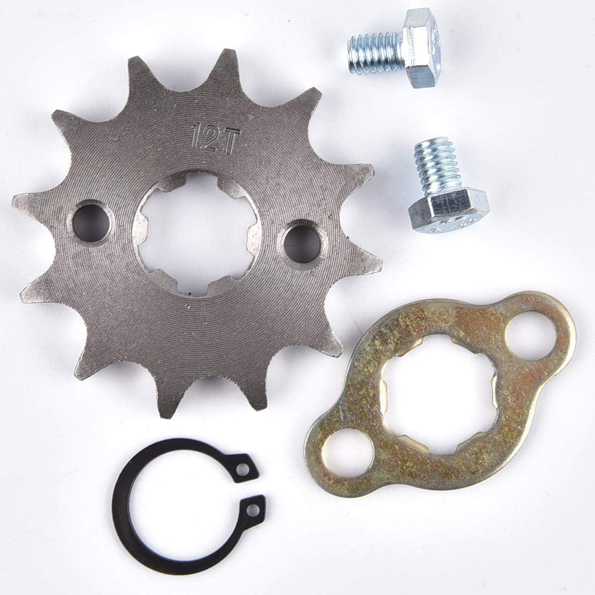 428 12T 17mm Front Engine Sprocket Replacement for 50cc 70cc 110cc 125cc 140cc 160cc ATV Dirt Bike Quad TaoTao Roketa Sunl