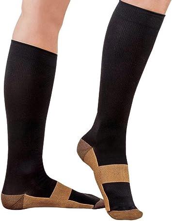 Men/'s Women/'s S-L Copper Infused Compression Socks 20-30mmHg Graduated