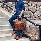 Crazy-Horse Genuine Cow Leather Messenger Satchel Laptop Briefcase Satchel Shoulder Bag Bookbag Ship from USA
