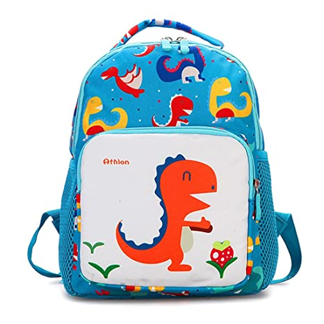 ea70d22b0c1b Amazon.com  Lamdoo Toddler Backpack Anti-Lost Band Kids Children Cartoon  Dinosaur Print School Bag Yellow  Home   Kitchen