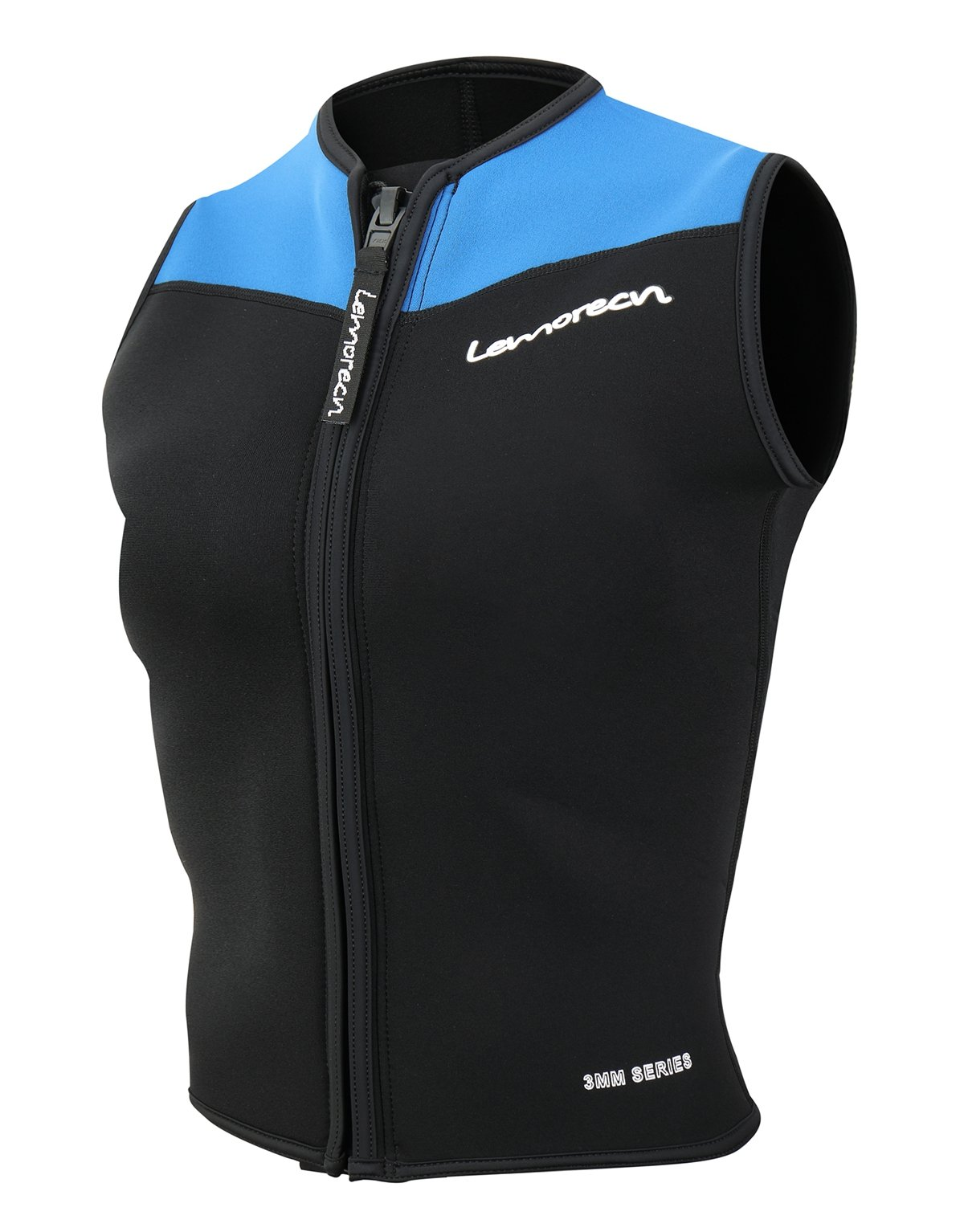 Lemorecn Wetsuits Top Premium Neoprene 3mm Zipper Diving Vest (2095blueM) by Lemorecn