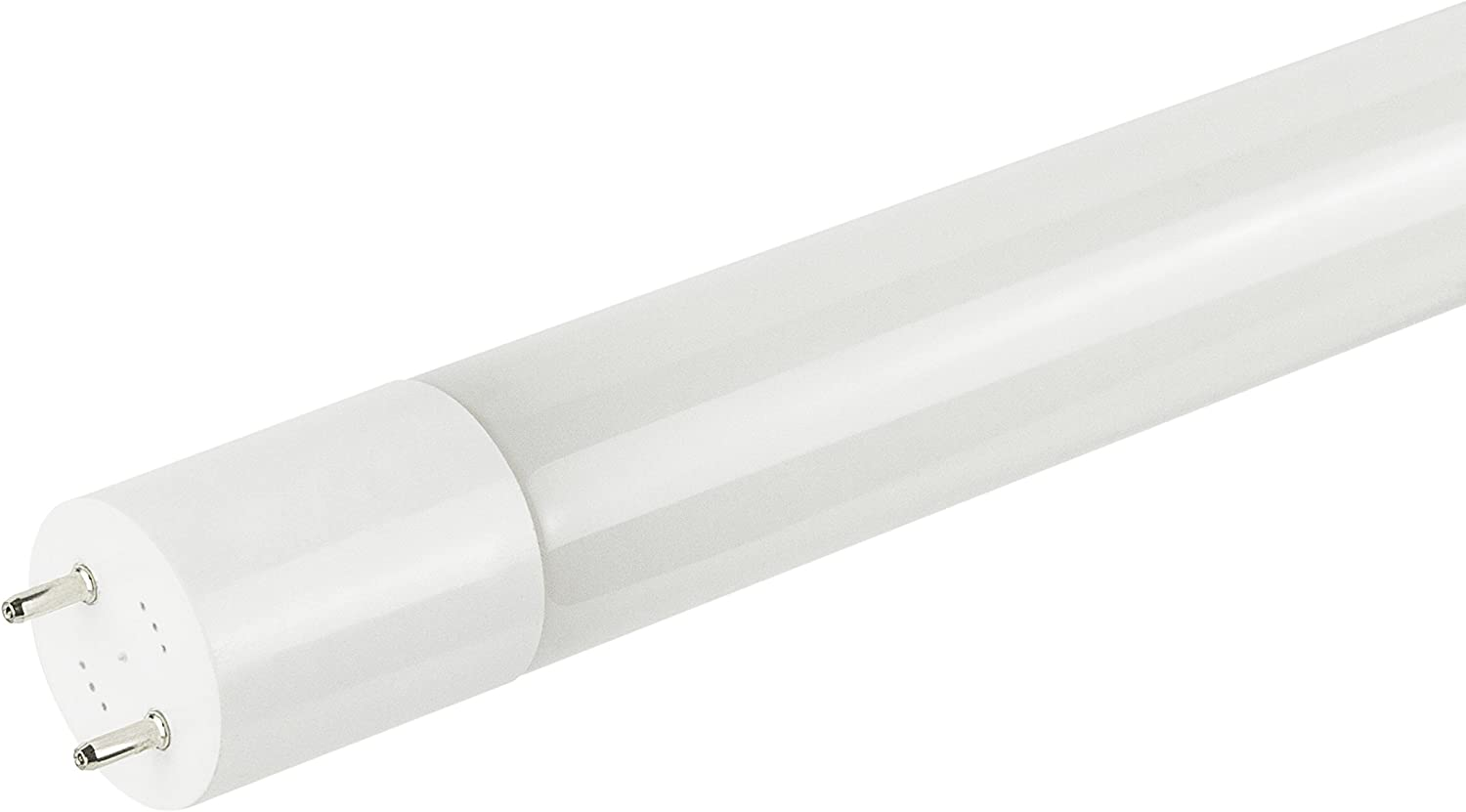 Sunlite T8//LED//4//12W//IS//DLC//30K 4 Foot T8 LED 12 Watt 120-277 Volt 3000K Warm White Plug and Play Equivalent Linear Replacement Light Bulb