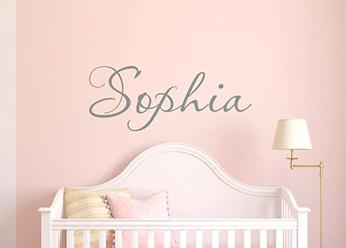 Amazoncom Girls Name Decal Name Wall Decal Childrens Wall   Wall Decals For  Girls