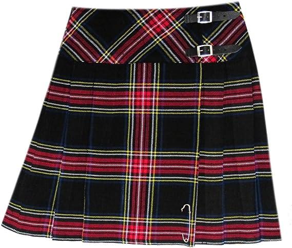 Tartanista - Kilt/Falda Escocesa Cruzado hasta la Rodilla Mujer ...