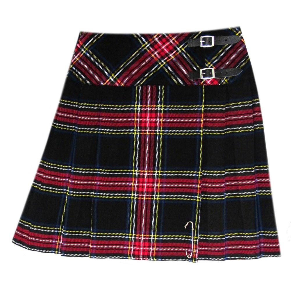 Tartanista Black Stewart Tartan 20 inch Kilt Skirt - Size US 4/W26