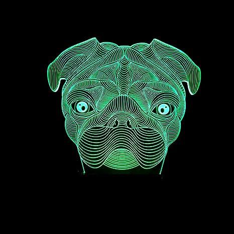 Lámpara de mesita de noche pequeña para bebés Sapi dog 3D ...