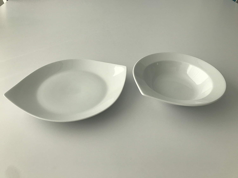 Vajilla de 20 Piezas de Porcelana Blanco Anna 6 Servicios DON HIERRO