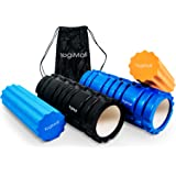 YogiMall 2 in 1 Foam Roller Set with Carry Bag | High Density Textured Roller + Soft Inner Roller for Myofascial Release, Muscle Trigger Point Massage & Physical Therapy