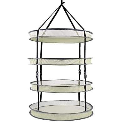 VIPARSPECTRA 2-ft 4-Layer Collapsible Breathable Mesh Herb Drying Rack for Buds & Hydroponic Plants with Sturdy Support: Garden & Outdoor
