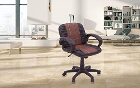 DZYN Furnitures Baxtonn Executive Office Chair in Crushed Brown Leatherette