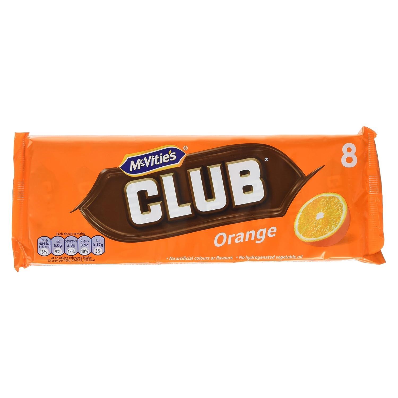 Mcvities Club Orange 176g 8 X 22g