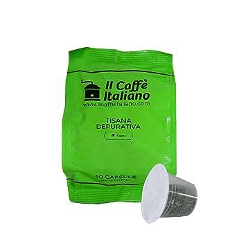 Il Caffè italiano 50 Nespresso Compatible Infusion Capsules - Purifying Infusion - 50X Infusion Capsules/