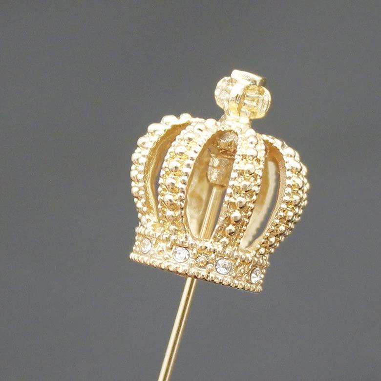 Q & Q Moda Oro Royal Reina Corona Tiara Cruz Solapa Stick Pin ...
