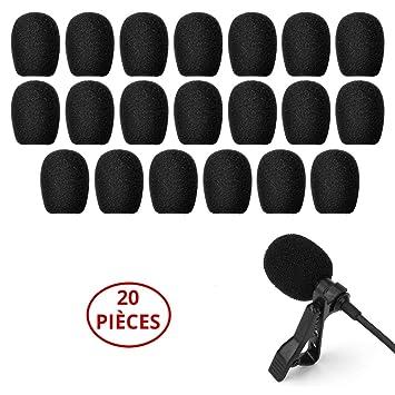 vendu dans le monde entier 2019 meilleures ventes en stock Tillmann's Bonnette micro Lot de 20 pcs - Mousse Microphone - Bonnettes -  Protection micro-casque et micro-cravate - Anti-vent