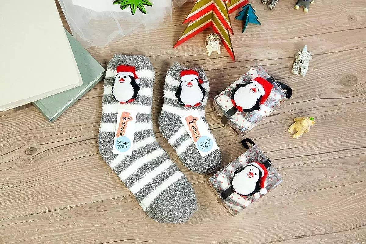e18c62b73 AJ 2 pair (mom + girl )Winter Slipper Socks Warm Fluffy Home Socks Plush  Coral Christmas Socks Casual Animal Socks Fuzzy Stockings Anti-slip Indoor  Floor ...