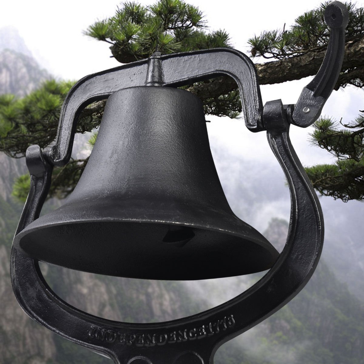 GHP 21''x14''x23.5'' Outdoor Church School Antique Vintage Style Large Cast Iron Dinner Farm Bell