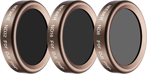 Inclusi: Filtro ND8 Filtro ND32 Neewer Kit di 3 Filtri a Densit/à Neutra Multi-rivestiti per DJI Phantom 4 Pro Filtro ND16 Dorato in Vetro a Definizione Ultra Alta con Telaio in Alluminio