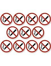 Lot de 10 autocollants avec inscription « interdiction de fumer », [5cm] - de la marque KAVARO.