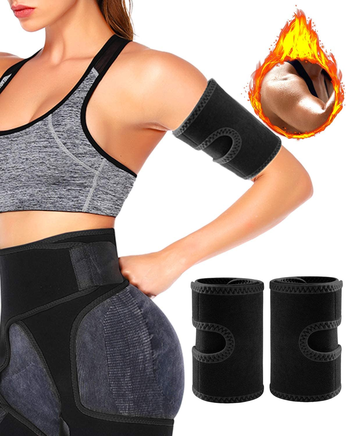 Pair of Weight Loss Sweat Arm Trainers fo Slimmer Trimmer Premium Arm Trimmers