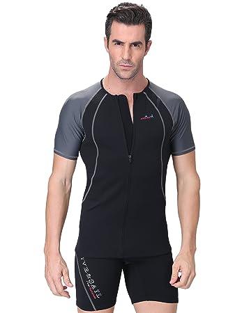 Amazon.com: Dive & Sail traje de neopreno chamarra hombres 1 ...