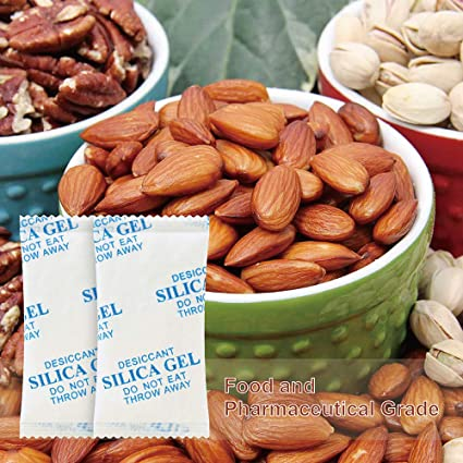 10 Gram(100Packs) Silica Gel Desiccant Moisture Absorber,Conforms to FDA,MIL-D-3463E I & II and DIN 55473,Perfect for Electronics,Gun,Tools, Food, ...
