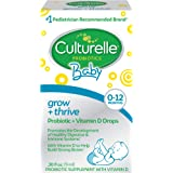 Culturelle Baby Grow + Thrive Probiotics + Vitamin D Drops - 400 IU - Helps Promote a Healthy Immune System & Develop a…