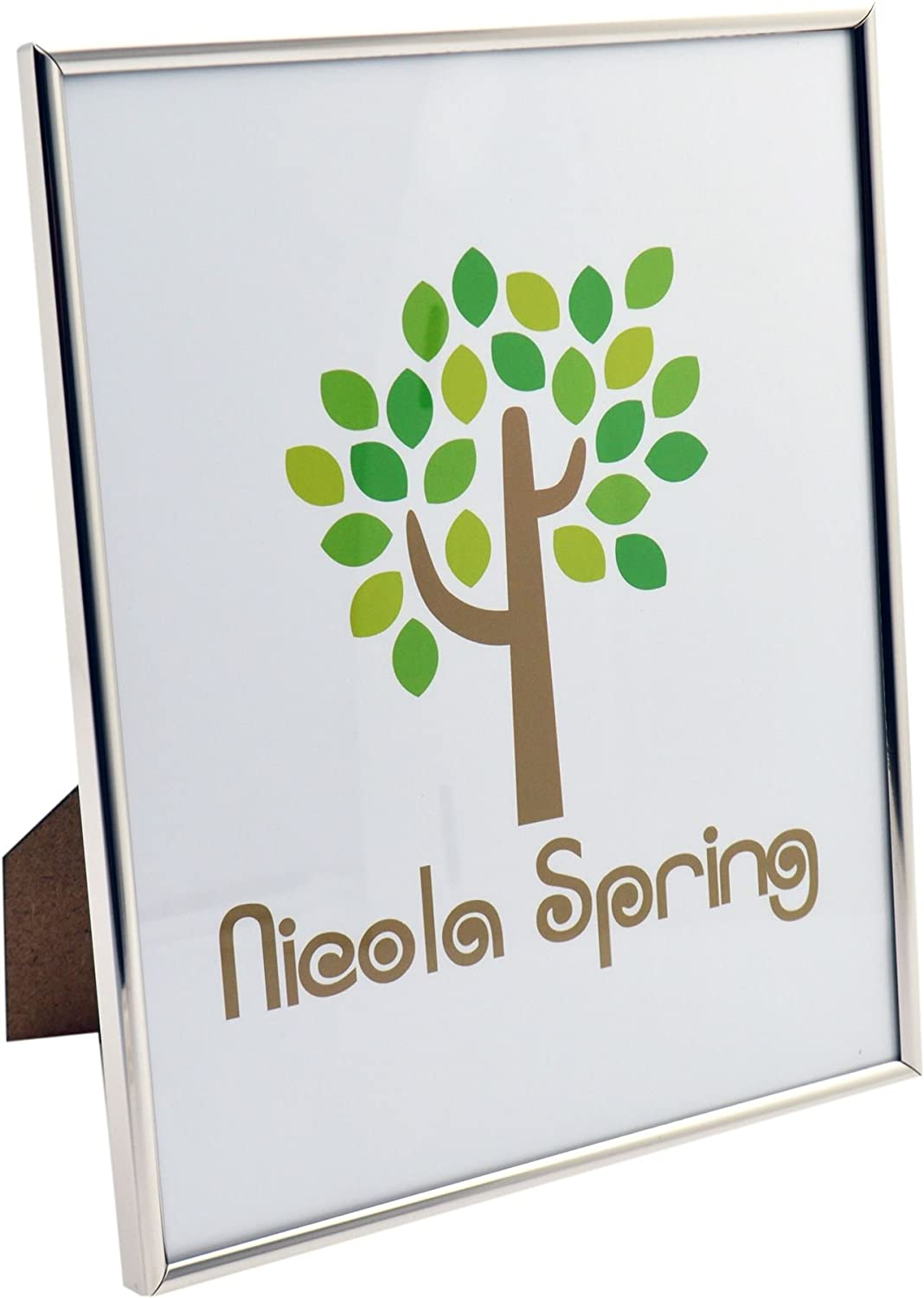 Nicola Spring Metal 8x10 Photo Frame. Silver Colour - Standing
