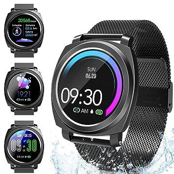 Smartwatch, relojes deportivos inteligentes Hombre Mujer, Pulsera ...
