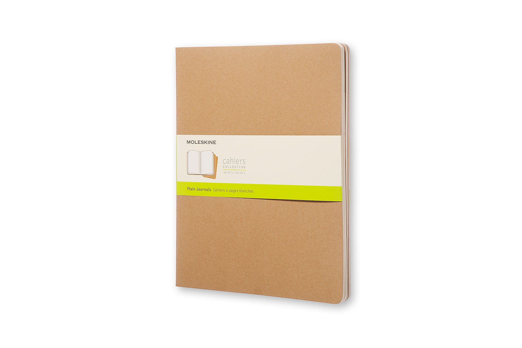 Moleskine Cahier Soft Cover Journal, Set of 3, Plain, ()