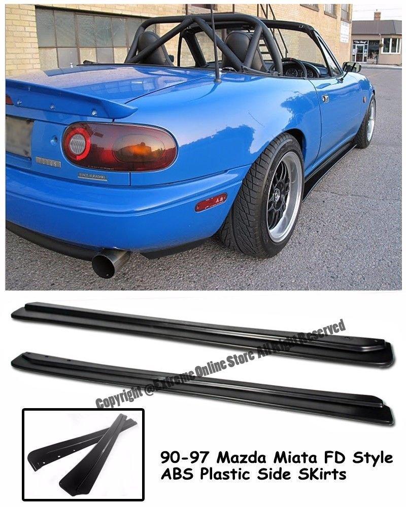 Jdm Feed Fd Style Rocker Panels Side Skirts Splitter 91 Miata Fuse Box Extension For 90 97 Mazda Mx 5 Na 1990 1991 1992 1993 1994 1995 1996 1997 92 93
