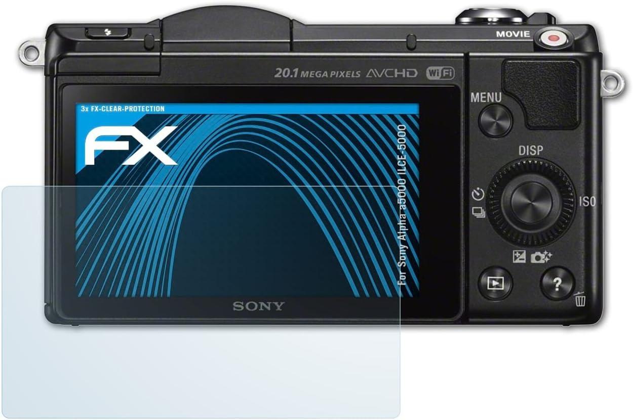 3 x atFoliX Protector de pantalla Sony Alpha a5000 (ILCE-5000 5000 ...