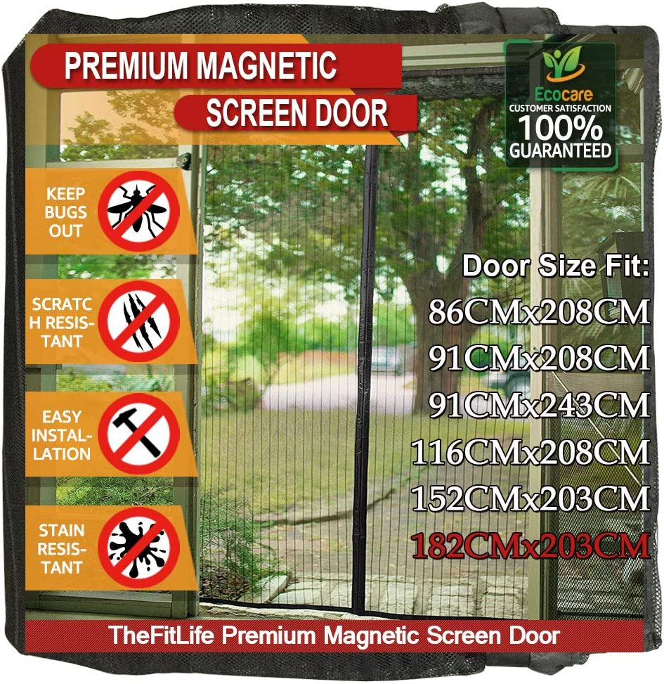 Width: 80//96 cm - Height: 100//108 cm Mosquito Net Automatic Tranquilisafe/® Adjustable Magnetic Fly Screen Anti Mosquitoes and Anti Fly Screen for Windows